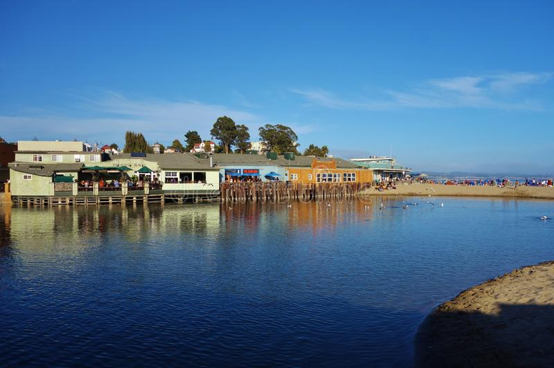 Capitola by the Sea in central California. CAPITOLA, CA - The city of Capitola by the Sea is a beach town located in Santa Cruz county on the coast of Monterey stock image