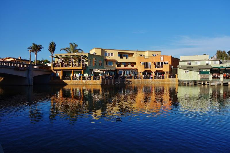Capitola by the Sea in central California. CAPITOLA, CA - The city of Capitola by the Sea is a beach town located in Santa Cruz county on the coast of Monterey royalty free stock photography
