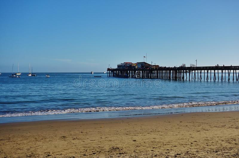 Capitola by the Sea in central California. CAPITOLA, CA - The city of Capitola by the Sea is a beach town located in Santa Cruz county on the coast of Monterey royalty free stock photo