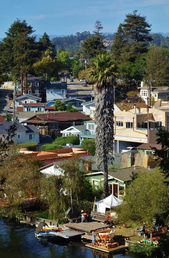 Capitola by the Sea in central California. CAPITOLA, CA - The city of Capitola by the Sea is a beach town located in Santa Cruz county on the coast of Monterey stock photos