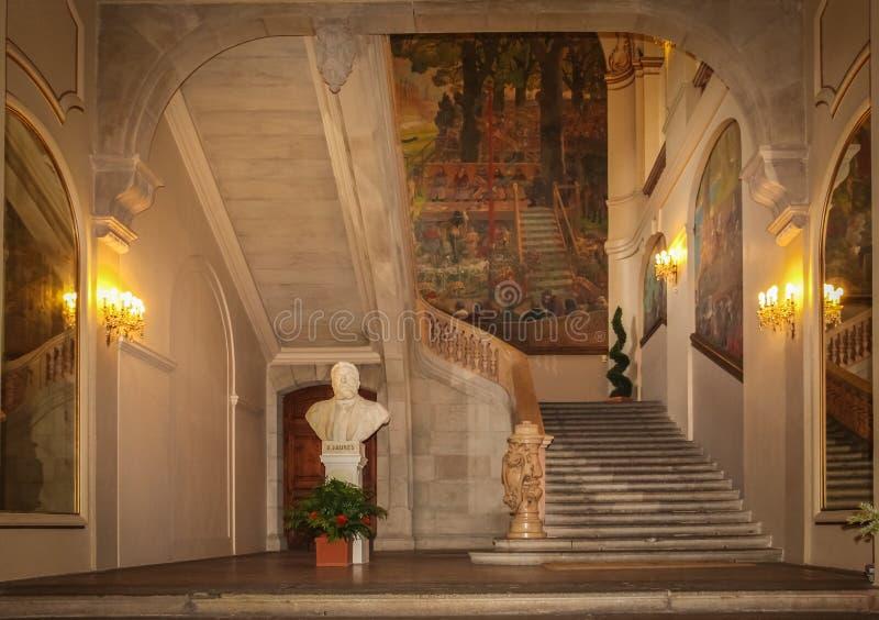 Capitole 内部 主要大厅 图卢兹 法国 免版税图库摄影