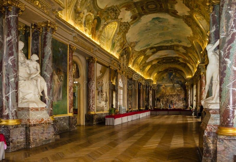 Capitole Binnenlands Salle des Illustres toulouse frankrijk royalty-vrije stock foto