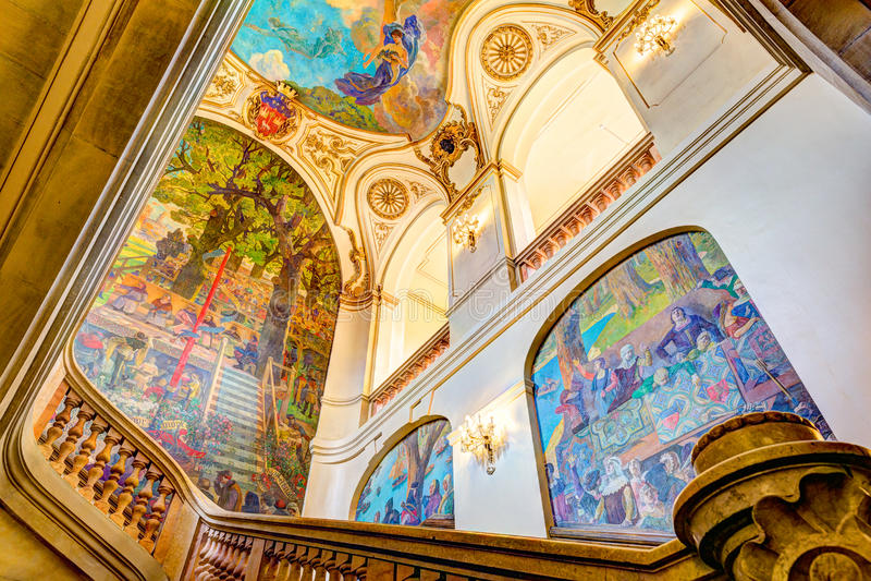 Capitole de图卢兹的楼梯 免版税库存照片