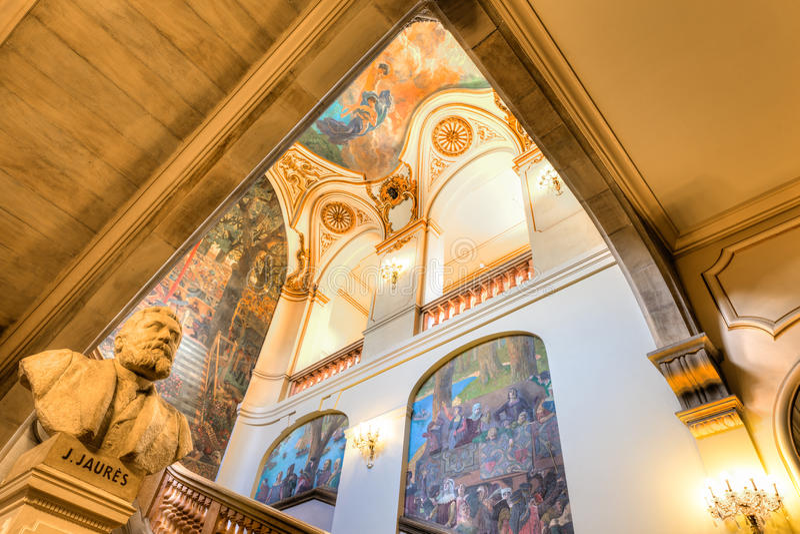Capitole de图卢兹的楼梯 免版税图库摄影