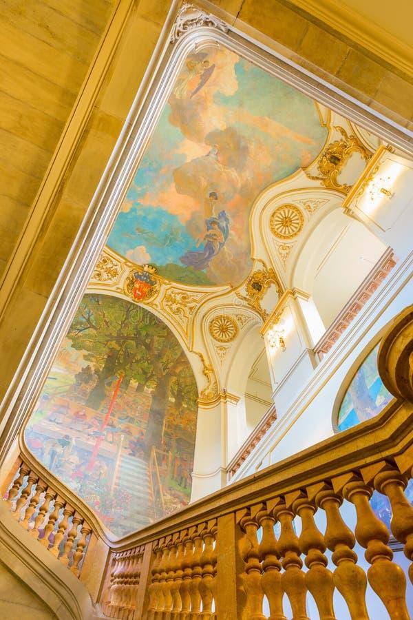 Capitole de图卢兹的楼梯 库存照片