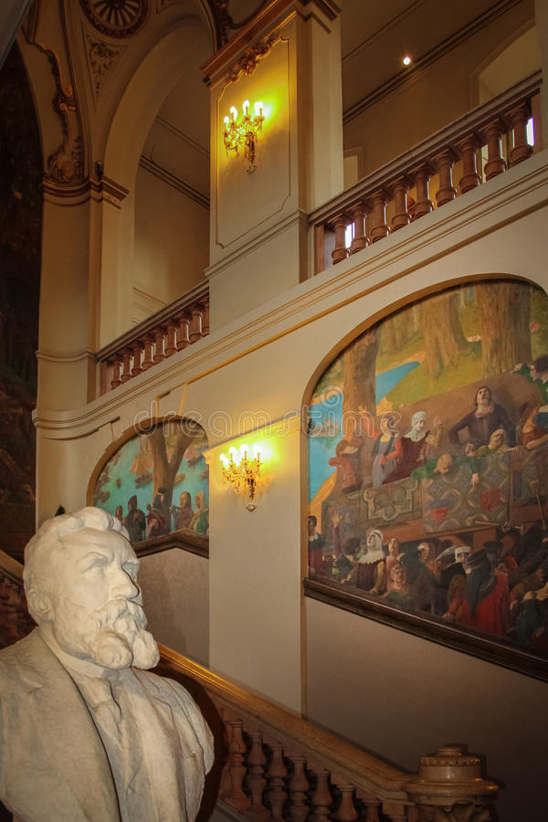Capitole wnętrze Główna sala toulouse Francja zdjęcia royalty free