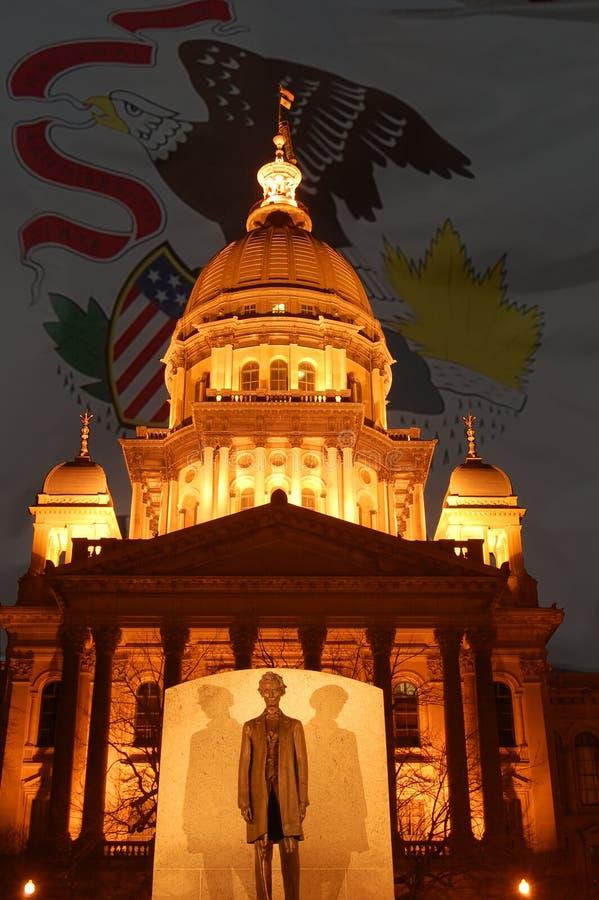 Download Capitolillinois tillstånd arkivfoto. Bild av mörkt, lighting - 4397066