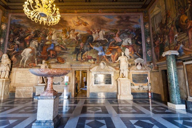 Capitoline博物馆内部在罗马市 免版税图库摄影