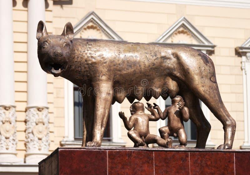 capitoline格式原始的雕塑狼 免版税图库摄影