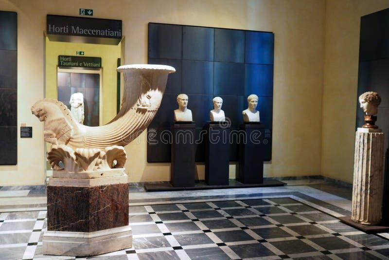 Capitoline museum av Rome, Italien royaltyfria bilder