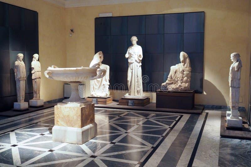 Capitoline museum av Rome, Italien arkivbild