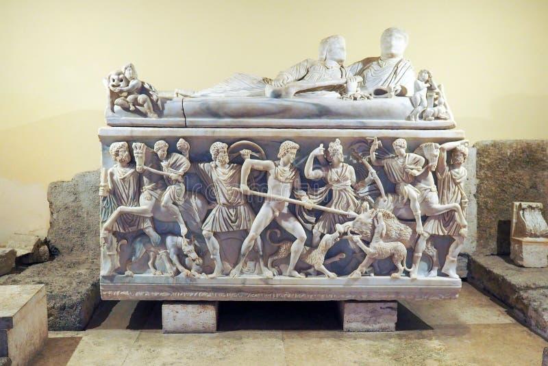 Capitoline museum av Rome, Italien royaltyfri fotografi