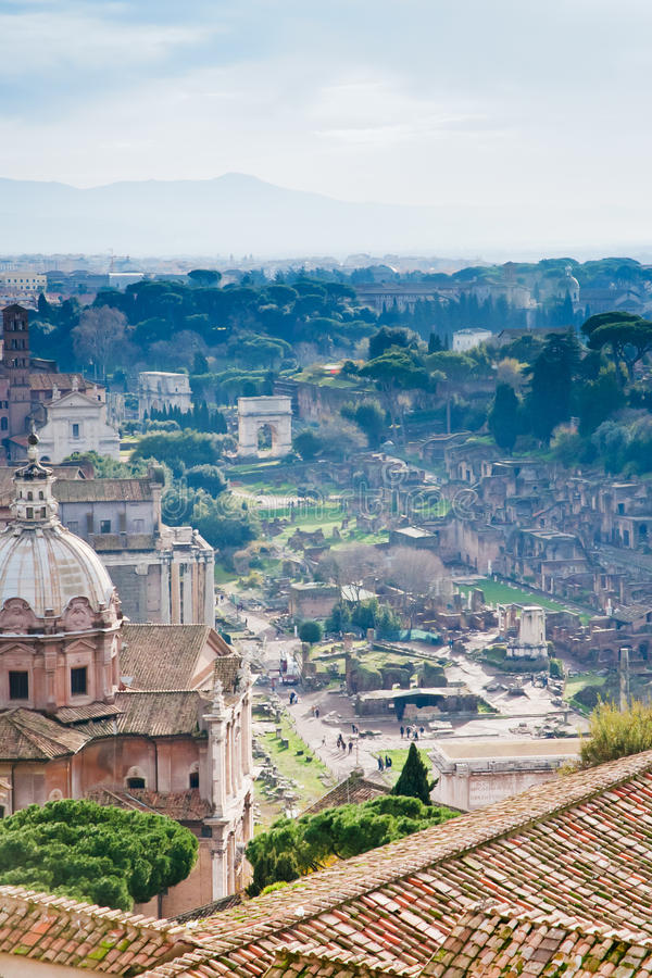 capitoline wzgórza Rome ruiny fotografia royalty free