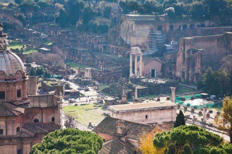 capitoline wzgórza Rome ruiny obrazy royalty free
