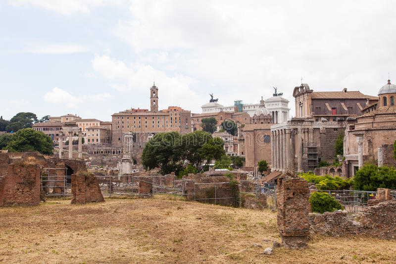 Capitolineheuvel royalty-vrije stock afbeeldingen