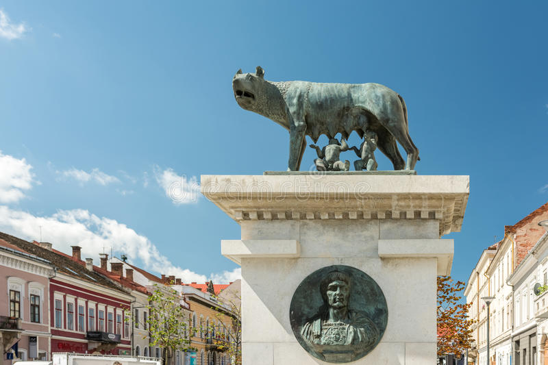 Capitolinen Wolf Statue royaltyfri bild