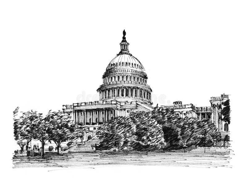 Capitolio de los E.E.U.U. ilustración del vector