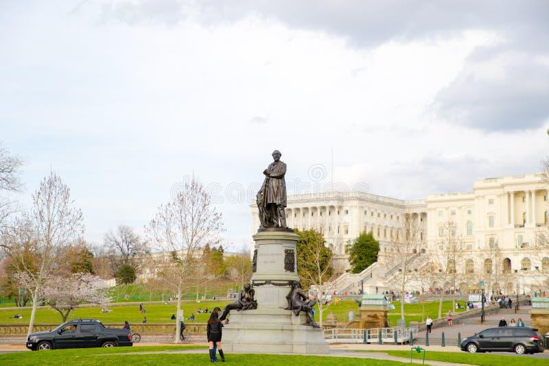 Capitolio de los E.E.U.U., lugar de reunión del senado y la cámara de representantes imagenes de archivo