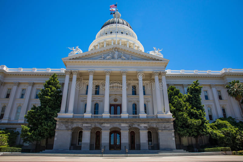 Capitolio del estado de California foto de archivo libre de regalías