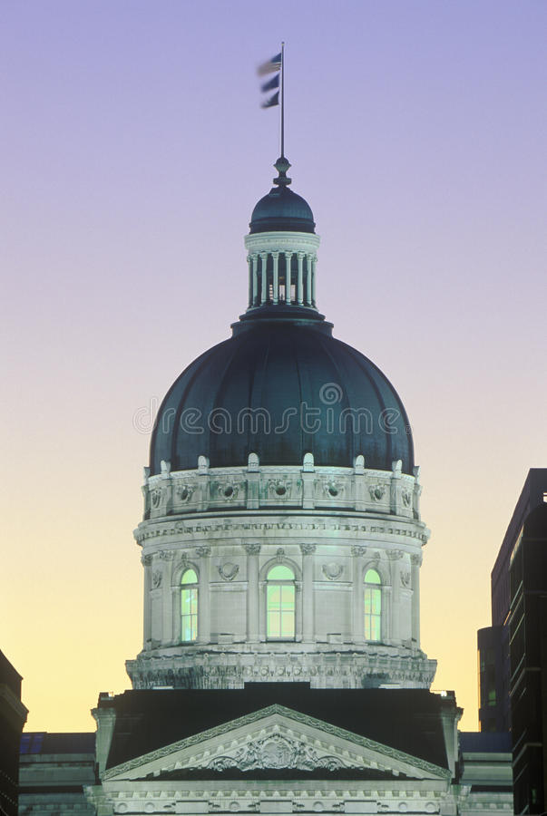 Capitolio del estado de Indiana imagen de archivo libre de regalías