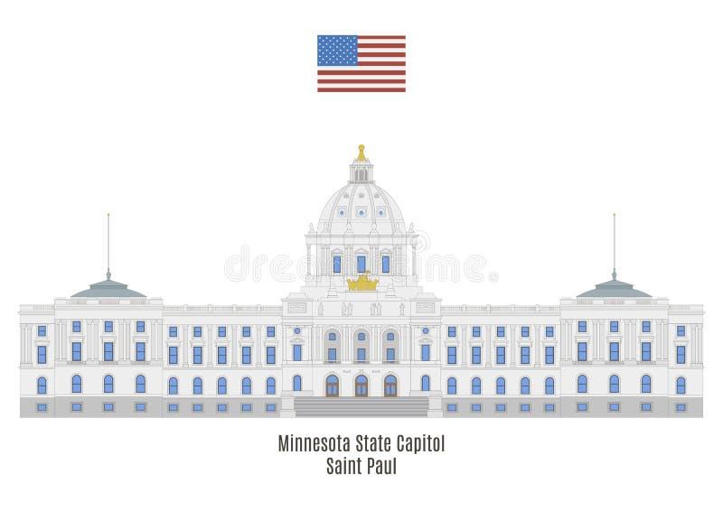 Capitolio del estado de Minnesota, Saint Paul stock de ilustración
