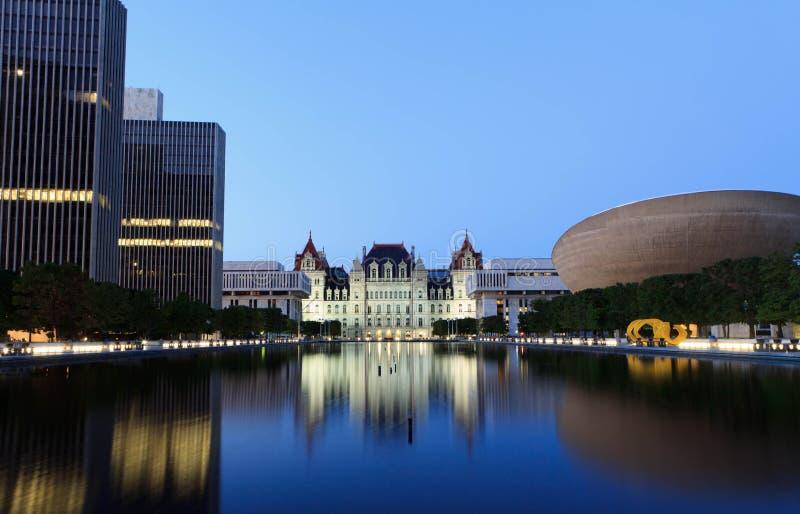 Capitolio del Estado de Nuevo York fotografía de archivo