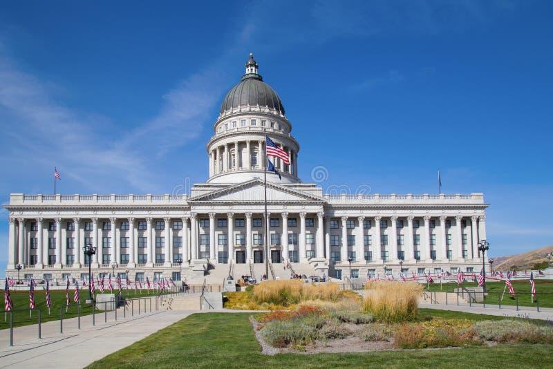 Capitolio del estado de Utah en la noche 1 fotos de archivo libres de regalías