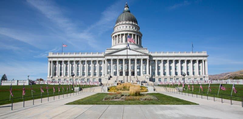 Capitolio del estado de Utah en la noche 1 fotos de archivo