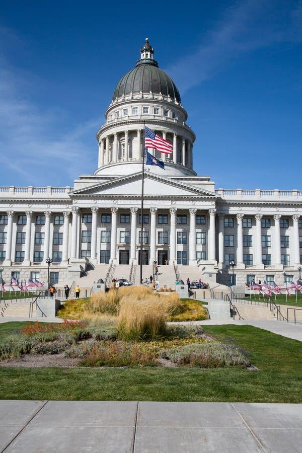 Capitolio del estado de Utah en la noche 1 imagen de archivo libre de regalías