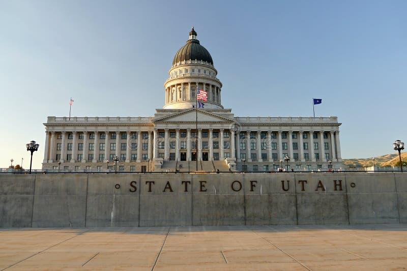 Capitolio del estado de Utah en la noche 1 Salt Lake City imagen de archivo libre de regalías