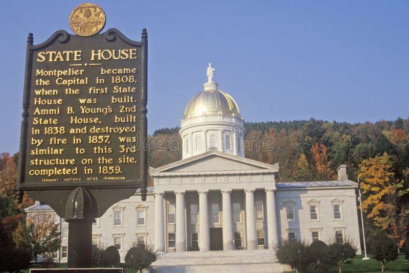 Capitolio del estado de Vermont fotografía de archivo