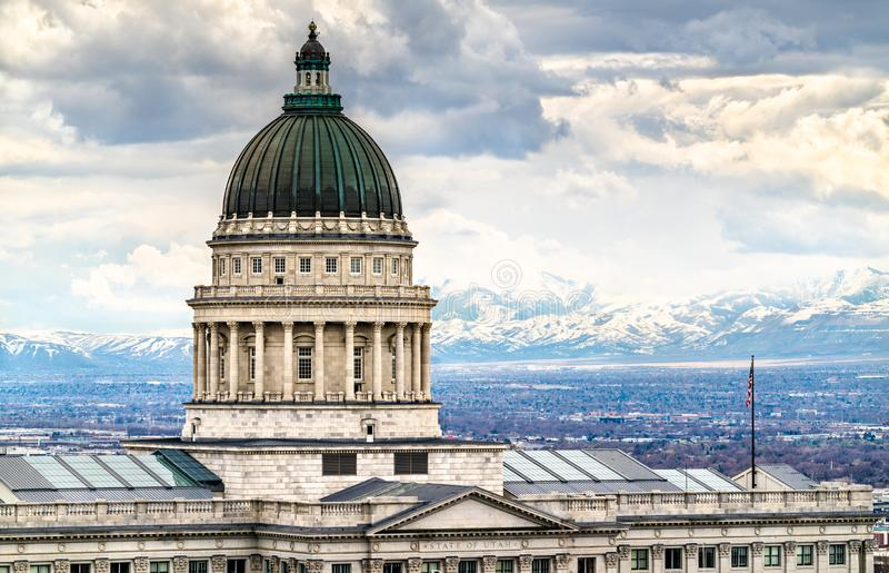 Capitolio estatal de Utah en Salt Lake City imagenes de archivo