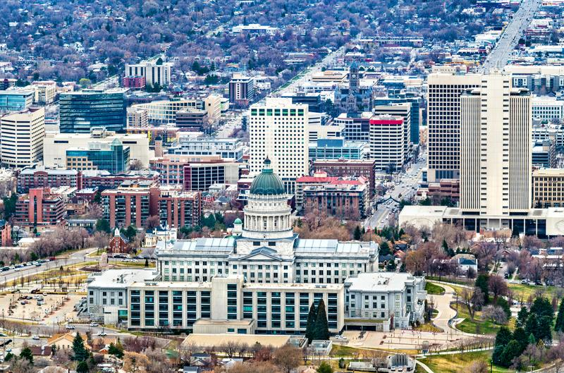 Capitolio estatal de Utah en Salt Lake City foto de archivo