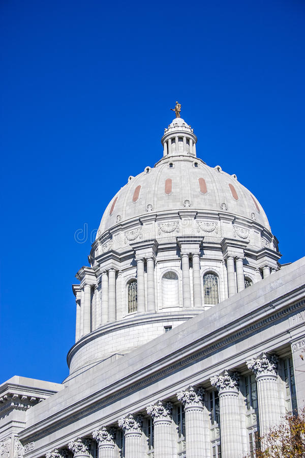 Capitolio Jefferson City Missouri fotografía de archivo
