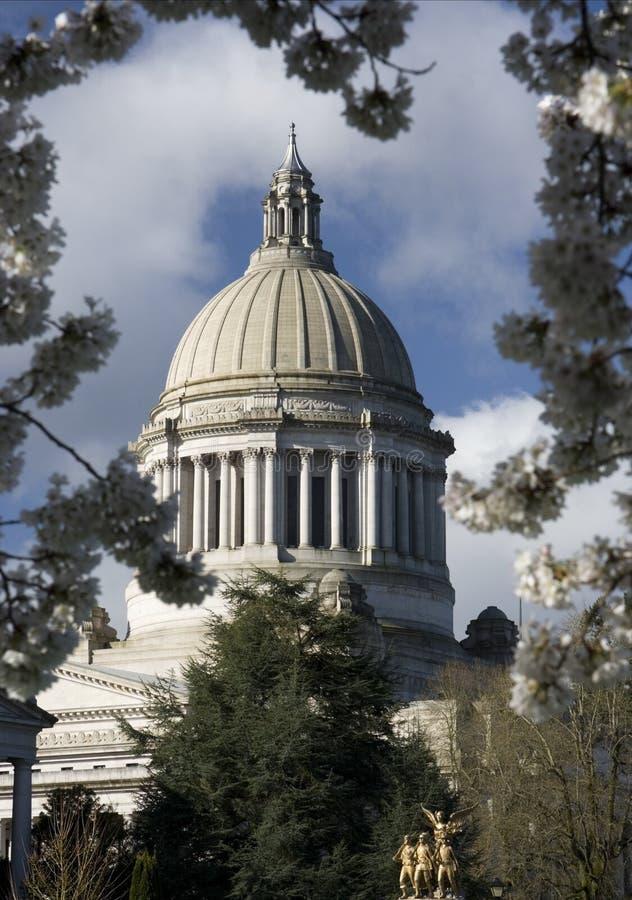 Capitolio-Marco del estado de Washington foto de archivo