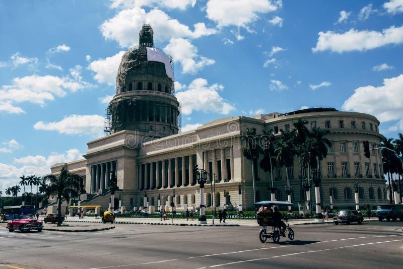 The Capitolio Nacional de Cuba. The Capitolio Nacional de Cuba being renovated royalty free stock photos
