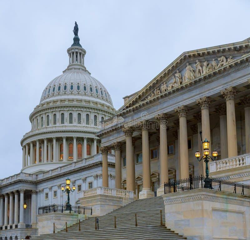 Capitolio que construye la escalera del este de la fachada, Washington DC imagen de archivo