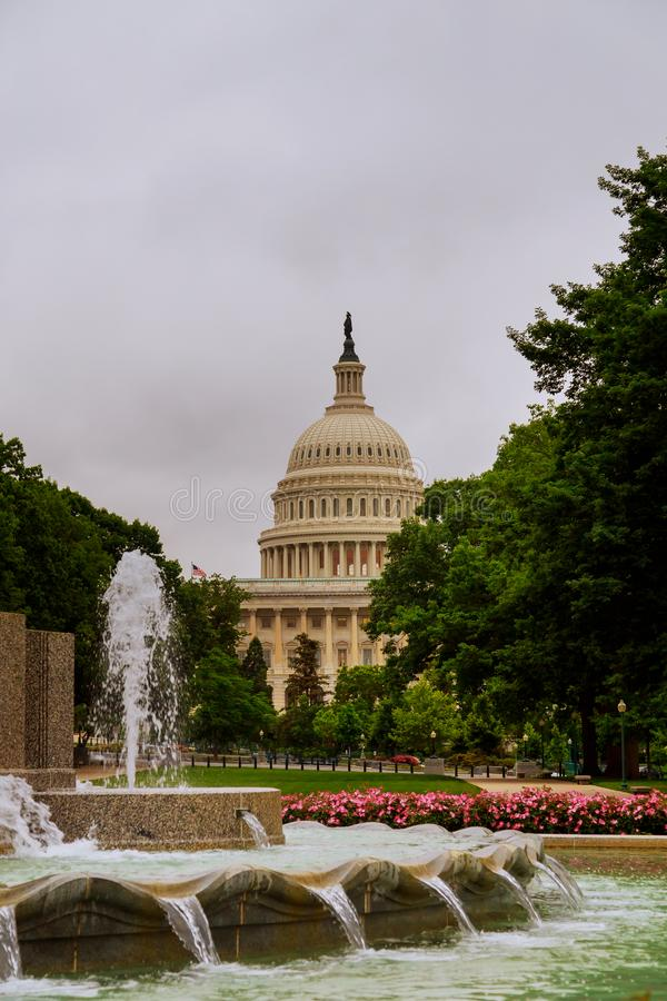 Capitolio que construye la escalera del este de la fachada, Washington DC fotografía de archivo libre de regalías