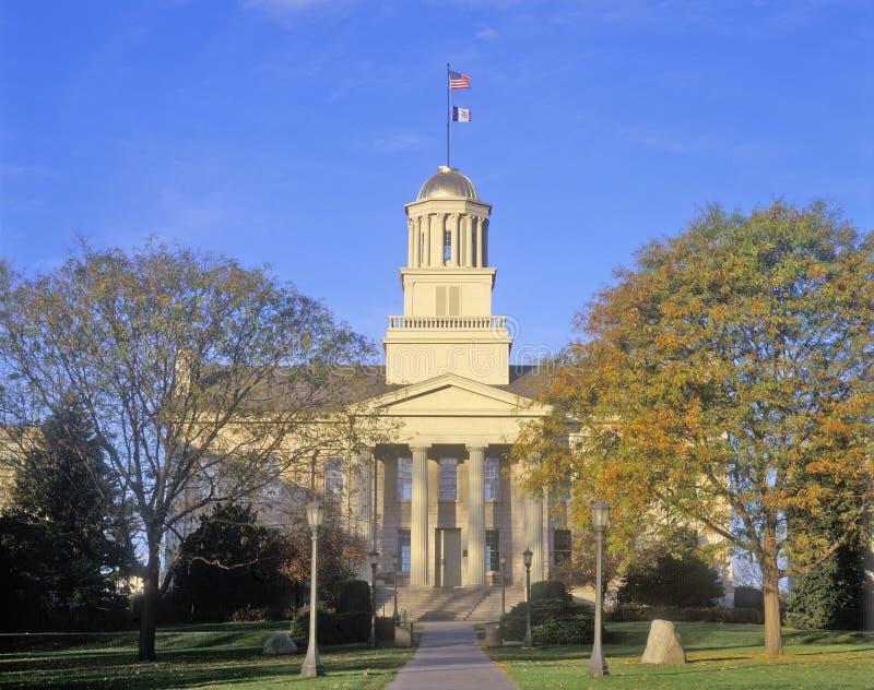 Capitolio viejo del estado de Iowa, Iowa City, Iowa fotos de archivo libres de regalías