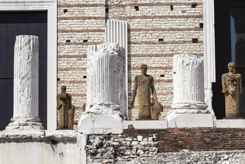 Capitolium de Brixia, Brescia, Italie photo libre de droits