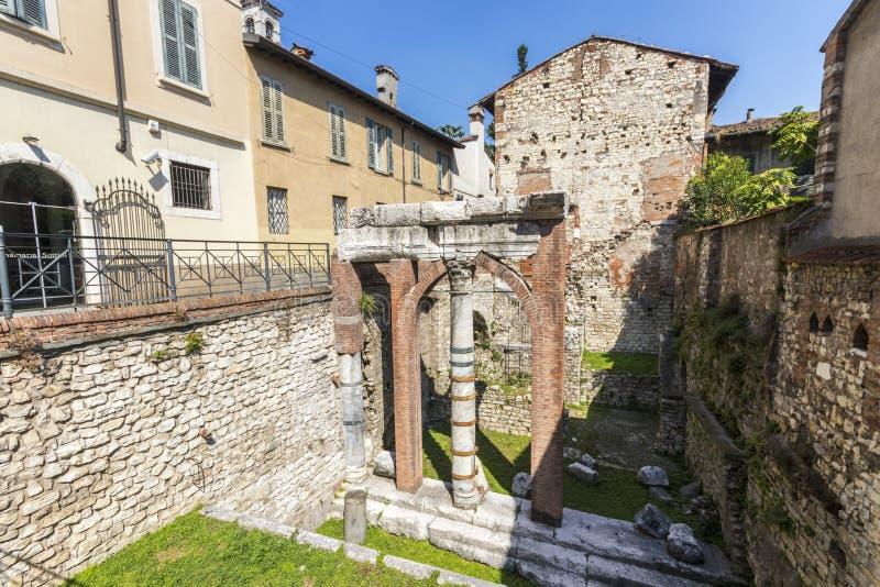 Capitolium de Brixia, Brescia, Italie photo stock