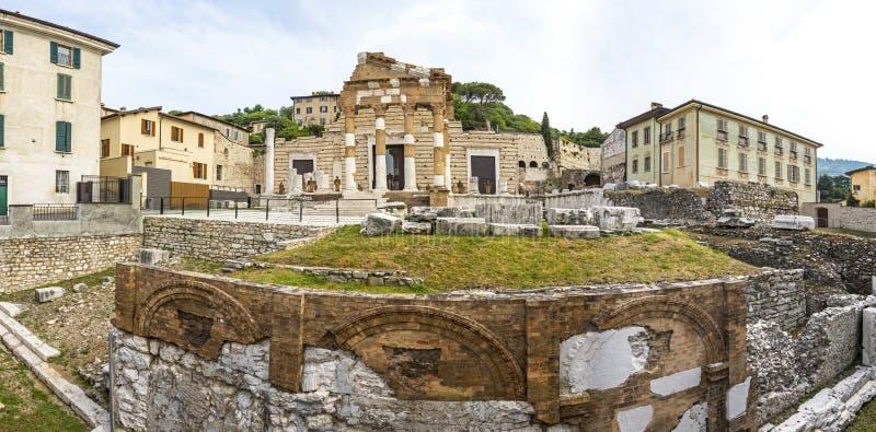 Capitolium van Brixia Brescia, Italië stock afbeelding