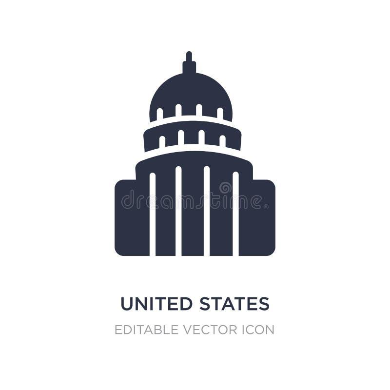 capitolpictogram van Verenigde Staten op witte achtergrond Eenvoudige elementenillustratie van Monumentenconcept stock illustratie