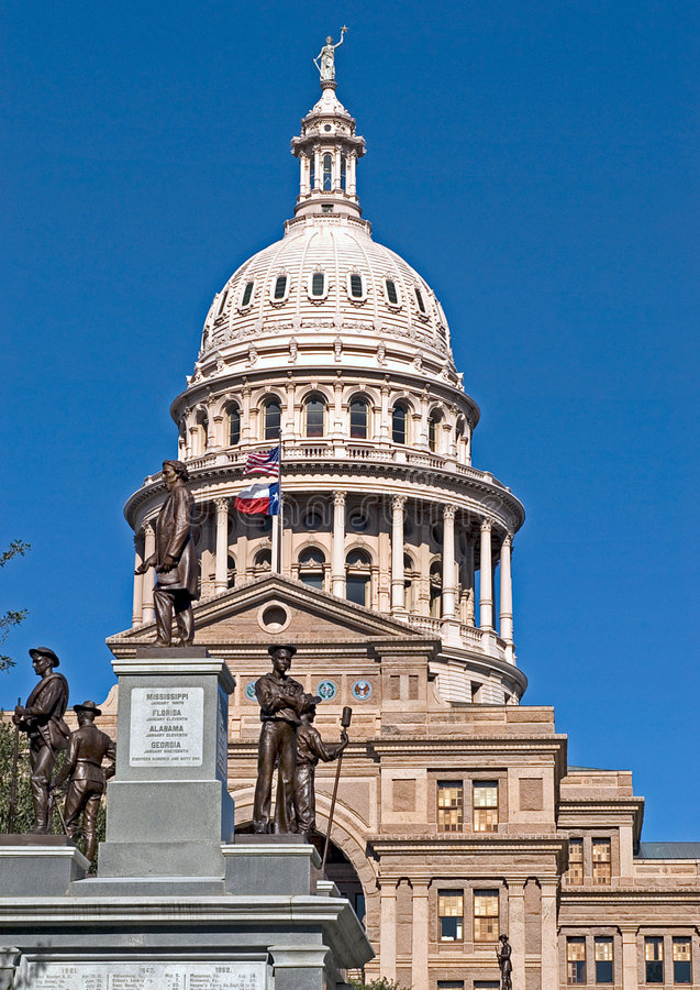 capitoltillstånd texas royaltyfri bild