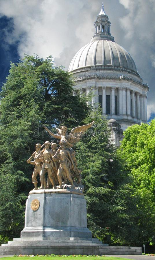 Capitool de Bouwkoepel Olympia Washington stock afbeelding