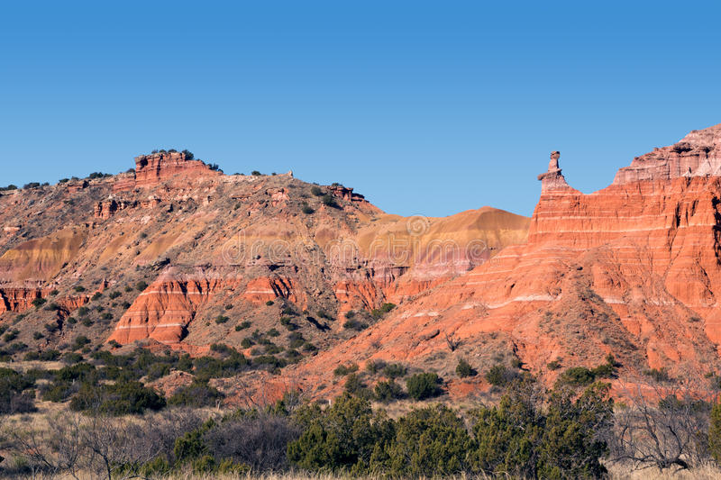 Capitoolpiek in Palo Duro Canyon State Park, Texas royalty-vrije stock afbeelding