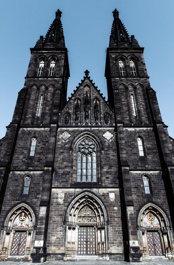 Capitular церковь St Peter и Пола (Kostel s стоковое фото