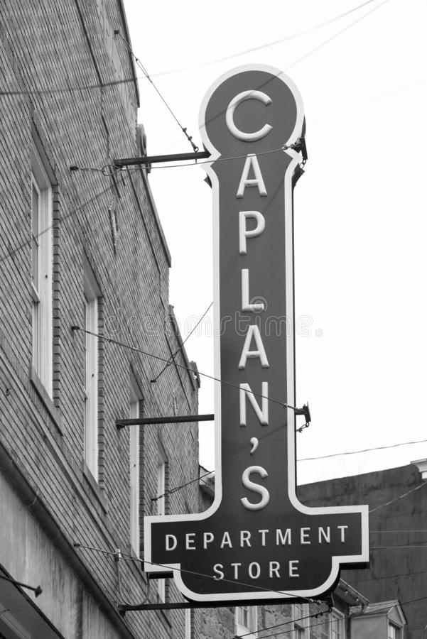 Caplan`s Department Store sign in Ellicott City, Maryland.  royalty free stock photos