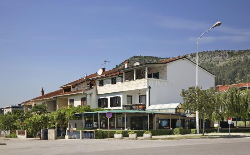 Caplina stad stämma överens områdesområden som Bosnien gemet färgade greyed herzegovina inkluderar viktigt, planera ut territorie royaltyfria bilder