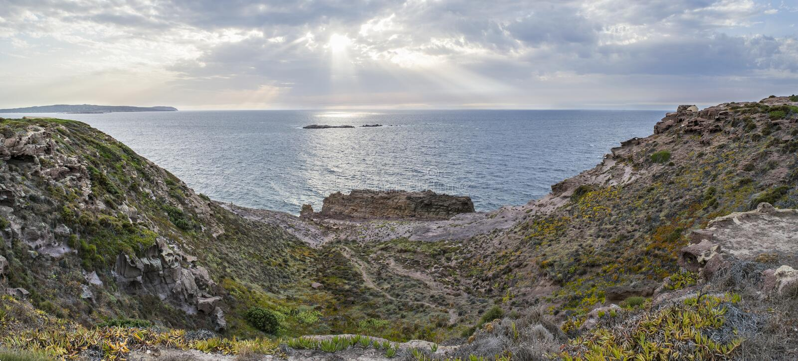 Capo Altano. Is a particular place of the Sulcis in Sardinia, Italy stock photography